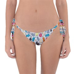 Funny Cute Colorful Cats Pattern Reversible Bikini Bottom