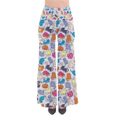 Funny Cute Colorful Cats Pattern So Vintage Palazzo Pants