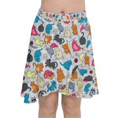Funny Cute Colorful Cats Pattern Chiffon Wrap