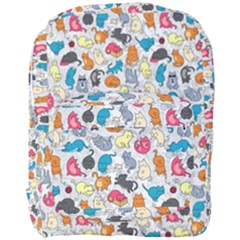 Funny Cute Colorful Cats Pattern Full Print Backpack
