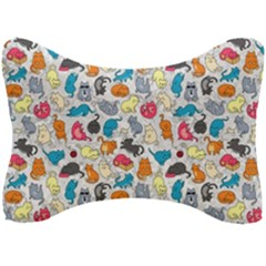 Funny Cute Colorful Cats Pattern Seat Head Rest Cushion