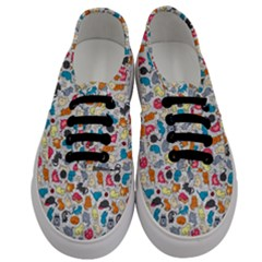 Funny Cute Colorful Cats Pattern Men s Classic Low Top Sneakers