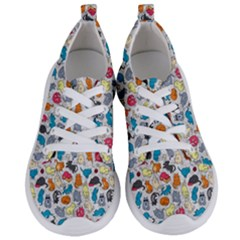 Funny Cute Colorful Cats Pattern Women s Lightweight Sports Shoes