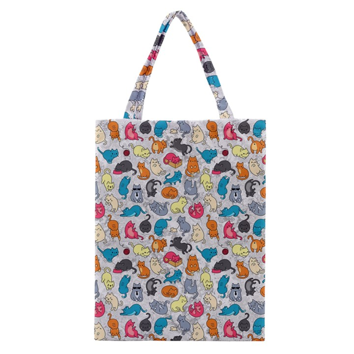 Funny Cute Colorful Cats Pattern Classic Tote Bag