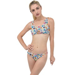Funny Cute Colorful Cats Pattern The Little Details Bikini Set