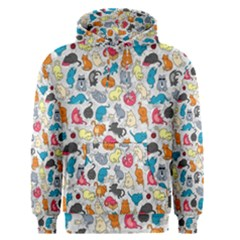 Funny Cute Colorful Cats Pattern Men s Pullover Hoodie