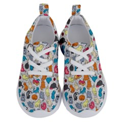 Funny Cute Colorful Cats Pattern Running Shoes