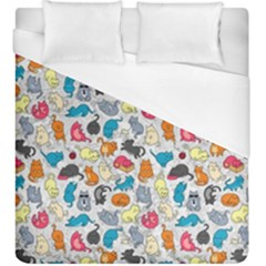 Funny Cute Colorful Cats Pattern Duvet Cover (king Size)