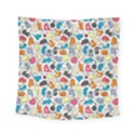 Funny Cute Colorful Cats Pattern Square Tapestry (Small) View1