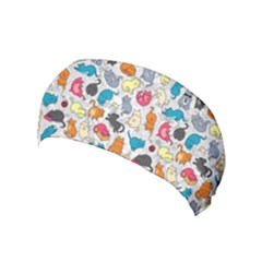 Funny Cute Colorful Cats Pattern Yoga Headband