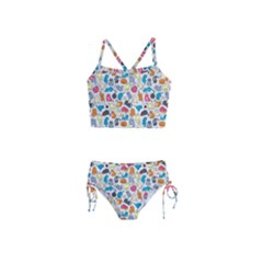 Funny Cute Colorful Cats Pattern Girls  Tankini Swimsuit
