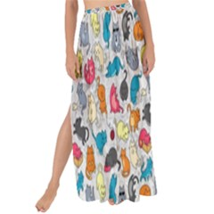 Funny Cute Colorful Cats Pattern Maxi Chiffon Tie Up Sarong