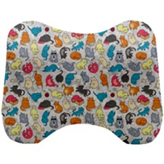 Funny Cute Colorful Cats Pattern Head Support Cushion by EDDArt