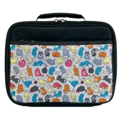 Funny Cute Colorful Cats Pattern Lunch Bag by EDDArt