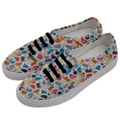 Funny Cute Colorful Cats Pattern Men s Classic Low Top Sneakers by EDDArt