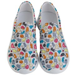Funny Cute Colorful Cats Pattern Men s Lightweight Slip Ons