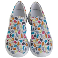 Funny Cute Colorful Cats Pattern Women s Lightweight Slip Ons by EDDArt