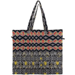Red And Geometric Designs Created By Flipstylez Designs Canvas Travel Bag by flipstylezdes