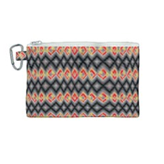 Red And Black Zig Zags  Canvas Cosmetic Bag (medium) by flipstylezdes