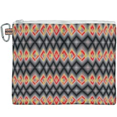 Red And Black Zig Zags  Canvas Cosmetic Bag (xxxl) by flipstylezdes