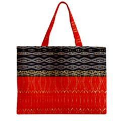 Creative Red And Black Geometric Design  Medium Tote Bag by flipstylezdes