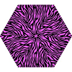 Zebra Stripes Pattern Trend Colors Black Pink Mini Folding Umbrellas by EDDArt
