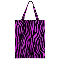 Zebra Stripes Pattern Trend Colors Black Pink Classic Tote Bag by EDDArt