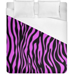 Zebra Stripes Pattern Trend Colors Black Pink Duvet Cover (california King Size) by EDDArt