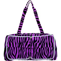 Zebra Stripes Pattern Trend Colors Black Pink Multi Function Bag	 by EDDArt