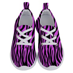 Zebra Stripes Pattern Trend Colors Black Pink Running Shoes by EDDArt