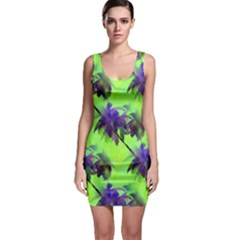 Palm Trees Lime In The Coconut Bodycon Dress