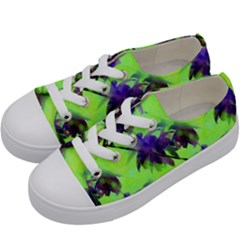 Palm Trees Lime In The Coconut Kids  Low Top Canvas Sneakers by CrypticFragmentsColors