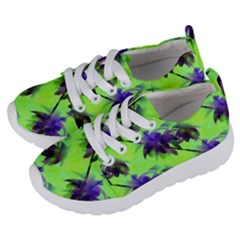 Palm Trees Lime In The Coconut Kids  Lightweight Sports Shoes by CrypticFragmentsColors
