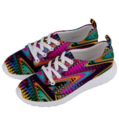 Multicolored Wave Distortion Zigzag Chevrons Women s Lightweight Sports Shoes by EDDArt