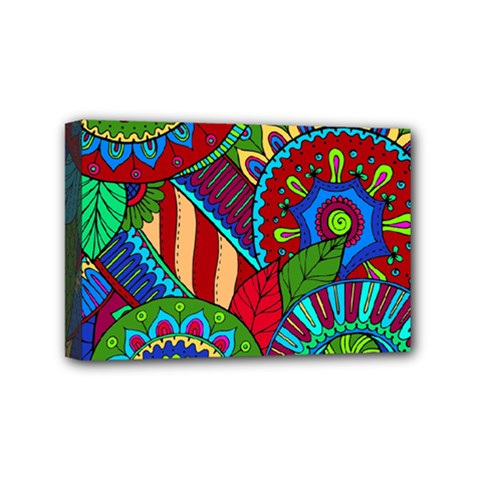 Pop Art Paisley Flowers Ornaments Multicolored 2 Mini Canvas 6  X 4  by EDDArt