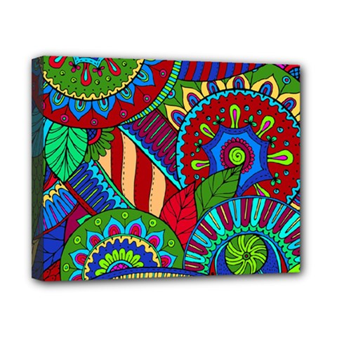 Pop Art Paisley Flowers Ornaments Multicolored 2 Canvas 10  X 8  by EDDArt