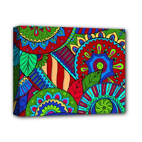Pop Art Paisley Flowers Ornaments Multicolored 2 Deluxe Canvas 14  X 11  by EDDArt