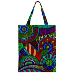 Pop Art Paisley Flowers Ornaments Multicolored 2 Classic Tote Bag by EDDArt
