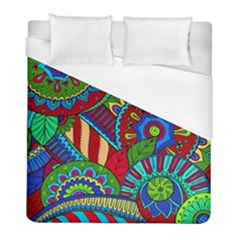 Pop Art Paisley Flowers Ornaments Multicolored 2 Duvet Cover (full/ Double Size) by EDDArt