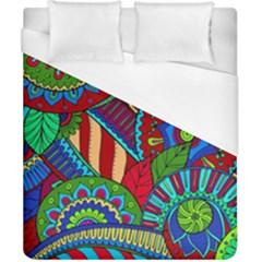 Pop Art Paisley Flowers Ornaments Multicolored 2 Duvet Cover (california King Size) by EDDArt
