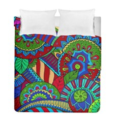 Pop Art Paisley Flowers Ornaments Multicolored 2 Duvet Cover Double Side (full/ Double Size) by EDDArt