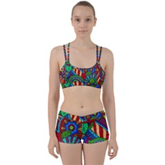 Pop Art Paisley Flowers Ornaments Multicolored 2 Women s Sports Set by EDDArt