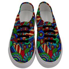 Pop Art Paisley Flowers Ornaments Multicolored 2 Men s Classic Low Top Sneakers