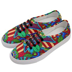 Pop Art Paisley Flowers Ornaments Multicolored 2 Women s Classic Low Top Sneakers by EDDArt