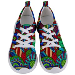 Pop Art Paisley Flowers Ornaments Multicolored 2 Women s Lightweight Sports Shoes