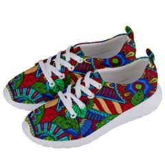 Pop Art Paisley Flowers Ornaments Multicolored 2 Women s Lightweight Sports Shoes by EDDArt