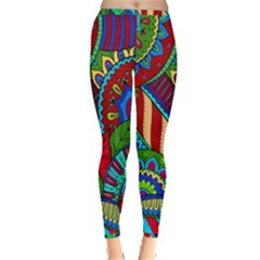 Pop Art Paisley Flowers Ornaments Multicolored 2 Inside Out Leggings