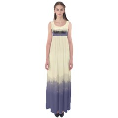 Cloudy Foggy Forest With Pine Trees Empire Waist Maxi Dress