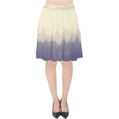 Cloudy Foggy Forest With Pine Trees Velvet High Waist Skirt by genx