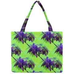 Palm Trees Lime In The Coconut Mini Tote Bag by CrypticFragmentsColors
